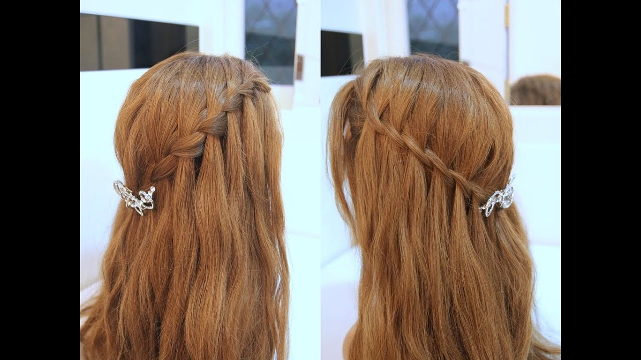 hair style videos youtube 2款女神系瀑布編髮教學 waterfall braid tutorial 2364 | maxresdefault