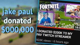 Jake Paul lied about his donation