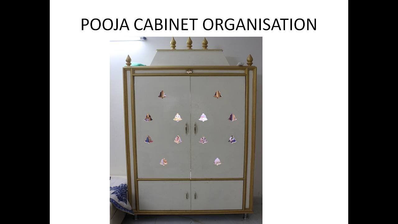 Exceptionnel POOJA CABINET ORGANISATION || POOJA CABINET TOUR (ENGLISH )