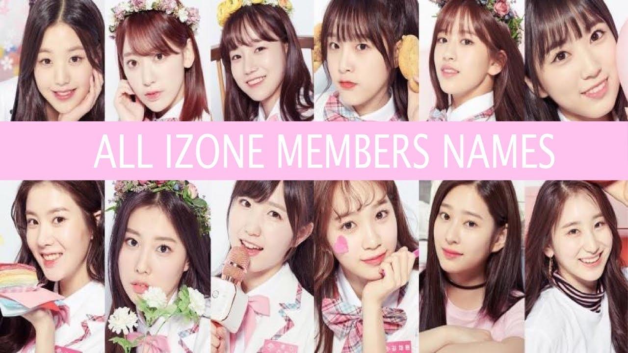 Members Name: ALL IZONE Members Names