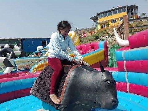 Funy Bull Game II Whoopee Land II Kathmandu, Nepal