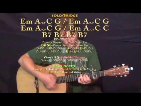 Mama Said (Lukas Graham) Guitar Lesson Chord Chart - Capo 3rd - C G Bm Em D A