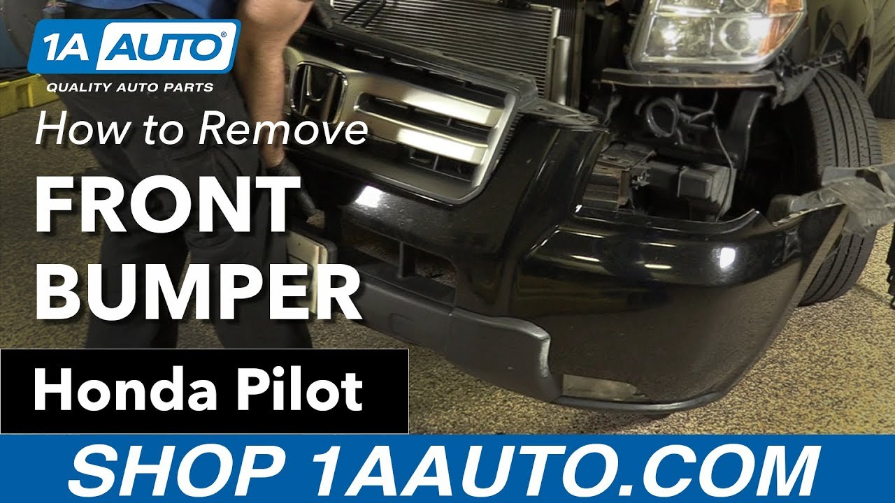 hight resolution of how to remove front bumper 03 08 honda pilot
