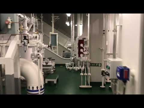 Engine room of vlcc Maran Arete