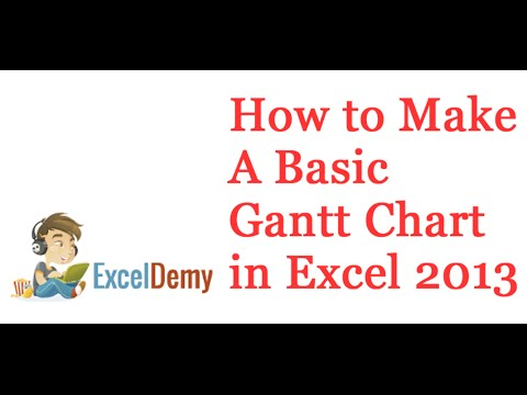 how to create a gantt chart in excel 2013 youtube