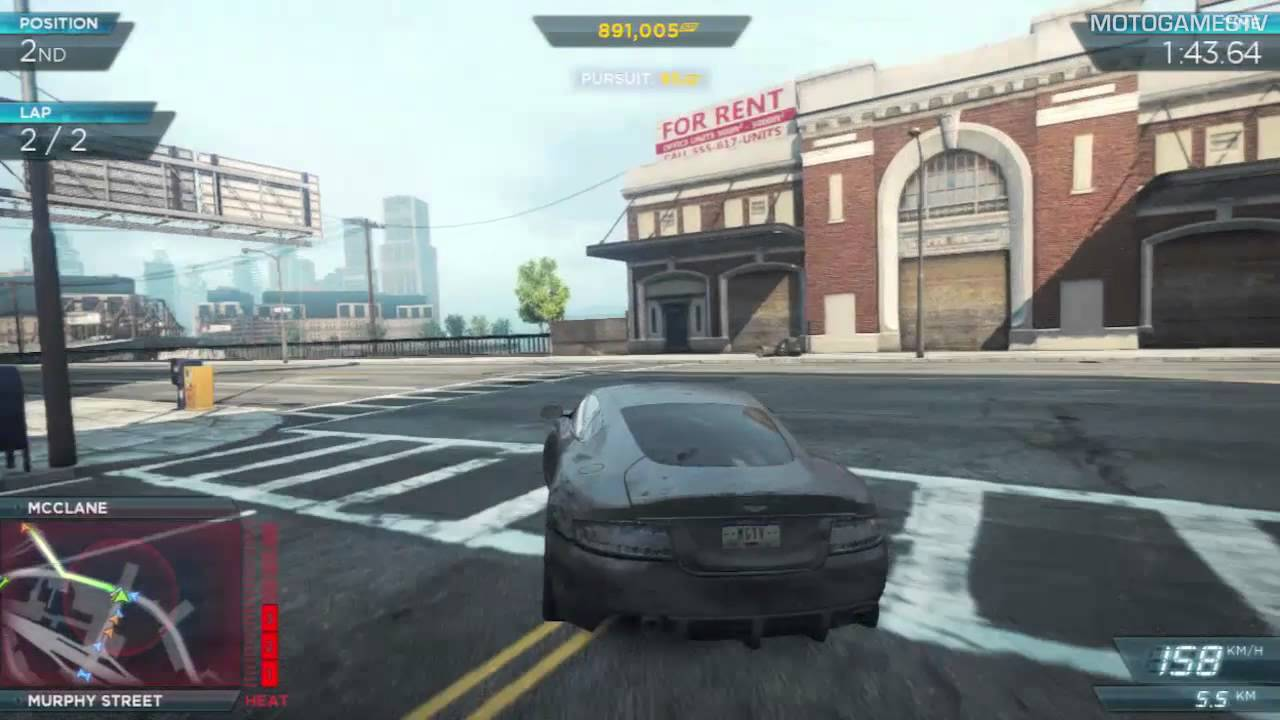 need for speed most wanted 2012 - aston martin dbs gameplay - youtube