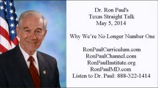 Ron Paul: Why the U.S. Lost to China - World's Largest Economy