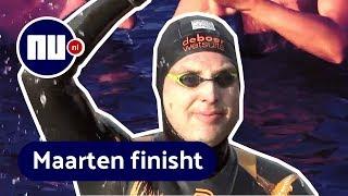 Zo verliep de elfstedenzwemtocht van Maarten van der Weijden | NU.nl