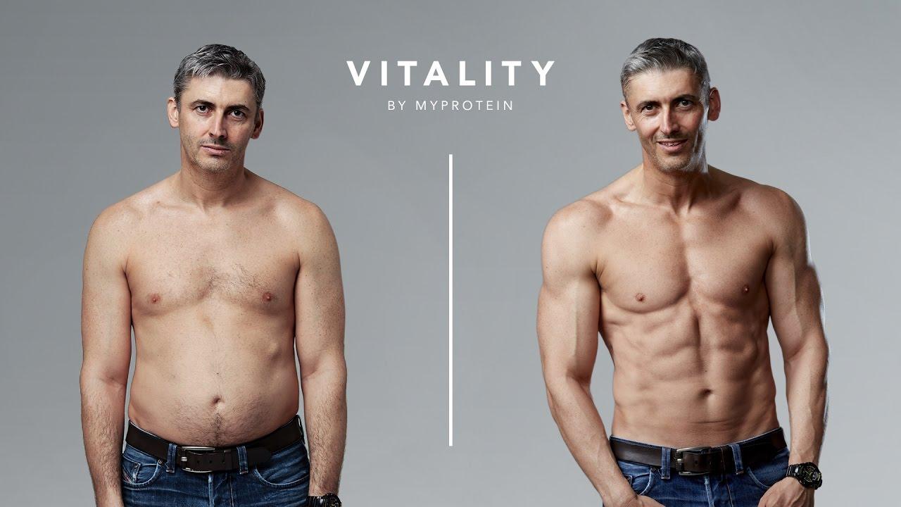 Transformación a los 45 años de edad La Historia de Ben Jackson Vitality Myprotein - YouTube