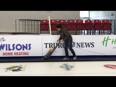 Producing ice for the Pinty's Grand Slam of Curling