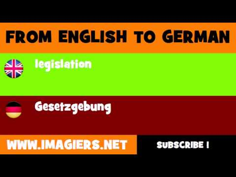 Gesetzgebung Englisch
