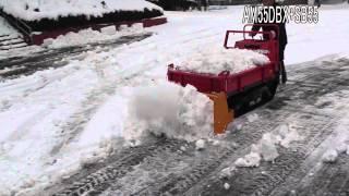 Repeat youtube video ウインブルヤマグチ 除雪機 排土板付 運搬車 AM55DBX