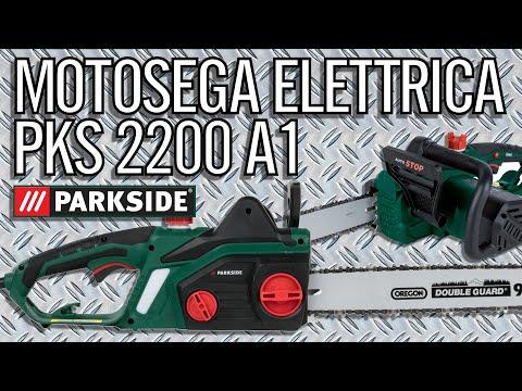 Motosega Elettrica Parkside PKS 2200 A1 Test, Regolazioni, Manutenzione (PARTE 1)