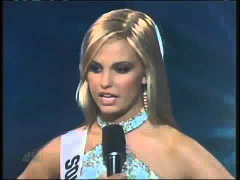 Miss Teen USA 2007   South Carolina answers a question