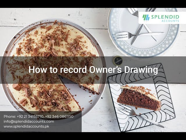 How to record Owner's Drawing in Splendid Account