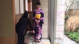 Japanese Culture ・Kimono・浴衣・着物の立ち方・着物の立居振る舞い・着物の写真撮影・着物のモデル・おもてなし・Yukata・Japan thumbnail