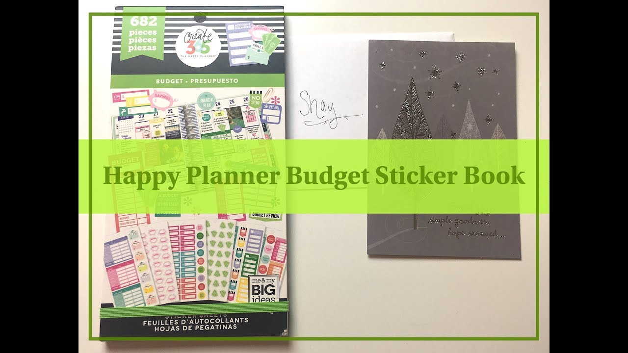 new happy planner budget sticker book youtube