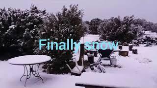 It finally snowed.