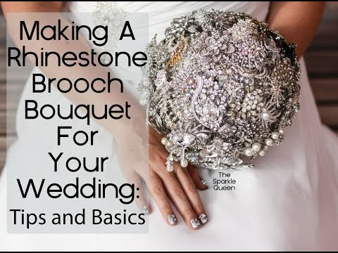 Diy Rhinestone Brooch Wedding Bouquet Overview