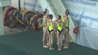 Чемпіонат України 2016. Групи. Довільна програма. Миколаївська область