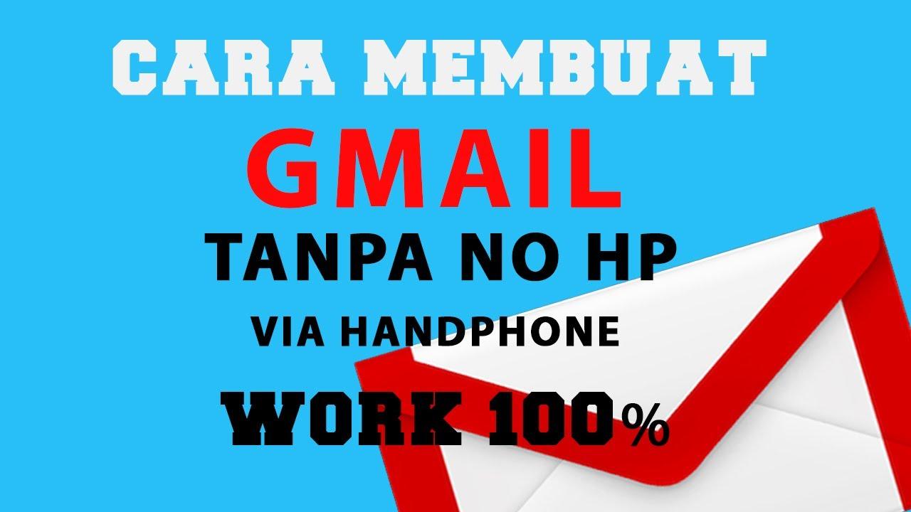 Cara Daftar  Membuat Gmail baru dari hp tanpa Nomor hp work 100 persen