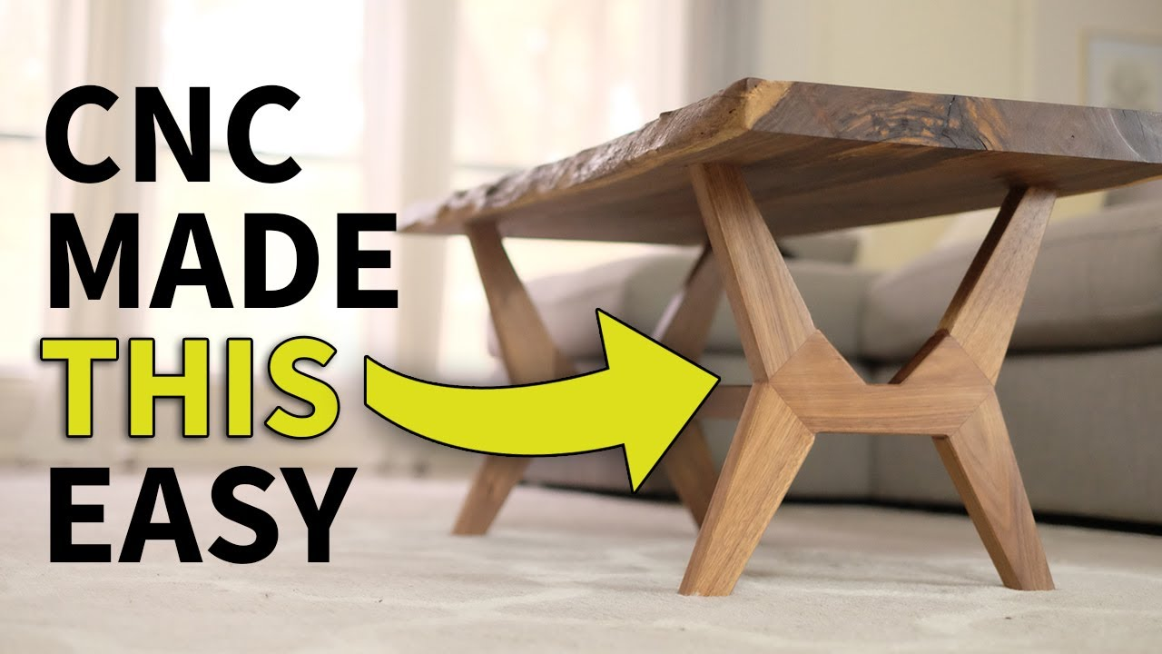 mid century modern coffee table. CNC Flat Pack, Live Edge, Mid Century Modern Coffee Table | Woodworking How To G