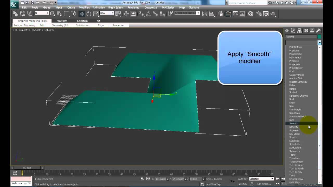 3ds Max How To Create Pitched Roof Youtube