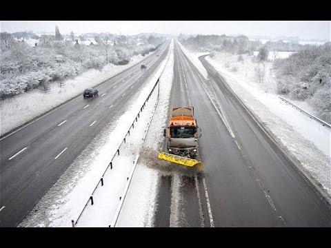 Deutsche Autobahn - German Highway Ostern Snow [HD]