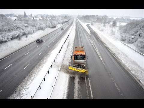 Deutsche Autobahn - German Highway Ostern Snow [HD]