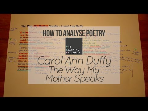 """Carol Ann Duffy's """"The Way My Mother Speaks"""" 