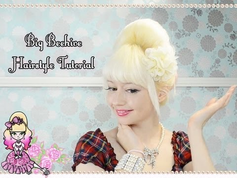 How To Do A Big Beehive Hairstyle Tutorial Violet Lebeaux Youtube
