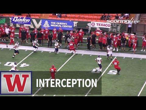 Waianae vs. Kahuku: B. Ayala, 82 yard interception return - HHSAA Open Semifinal