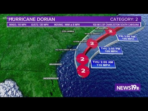 Hurricane Dorian creeping
