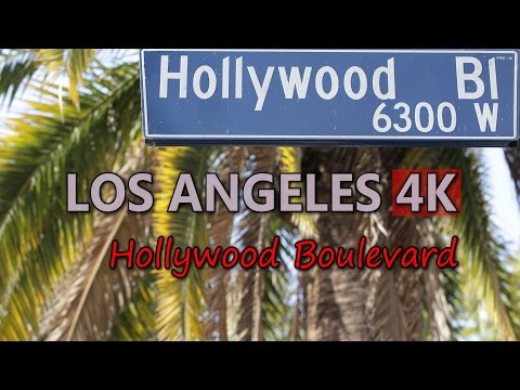 Ultra HD 4K Los Angeles Hollywood Boulevard Travel Sightseeing Walk Of Fame UHD Video Stock Footage