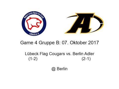 German Flag Open 2017 Lübeck Flag Cougars vs Berlin Adler