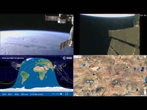 Sunset Over Europe And Asia - ISS Space Station Earth View LIVE NASA/ESA Cameras And Map - 77