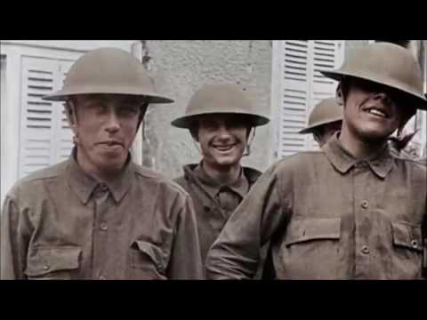 Over There | US army WW1 footage in Color