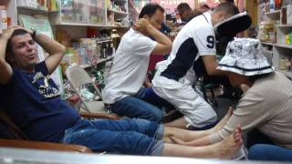 David quick foot back massage at Chinese Chinatown NYC New York NY USA