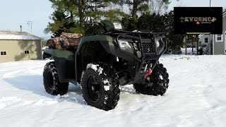 Winter Storm JONAS 2016 / 2014 Honda Foreman 4x4 ATV A Ride In The Woods In The Snow By KVUSMC