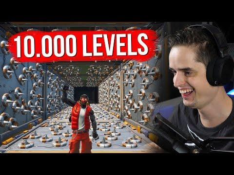 10.000 LEVEL DEATHRUN! - Fortnite Creative