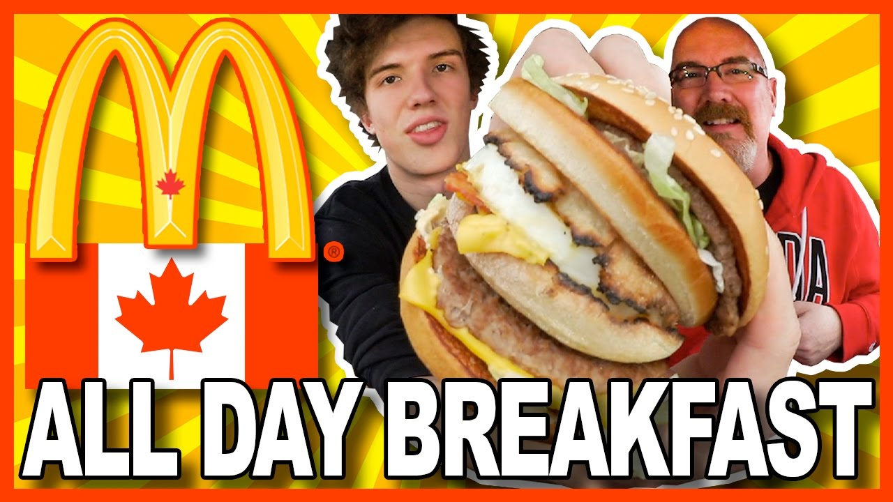 ALL DAY BREAKFAST at McDonald's CANADA #AllDayBreakfast
