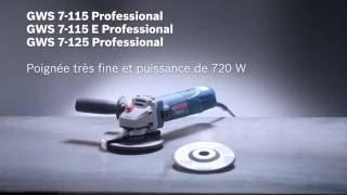 Meuleuses Bosch GWS7-115, GWS7-115E & GWS7-125 - Guedo outillage