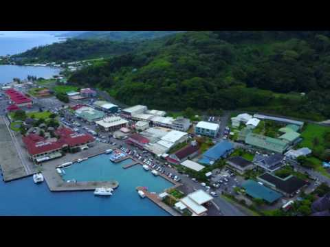 Raiatea city and harbor of Uturoa