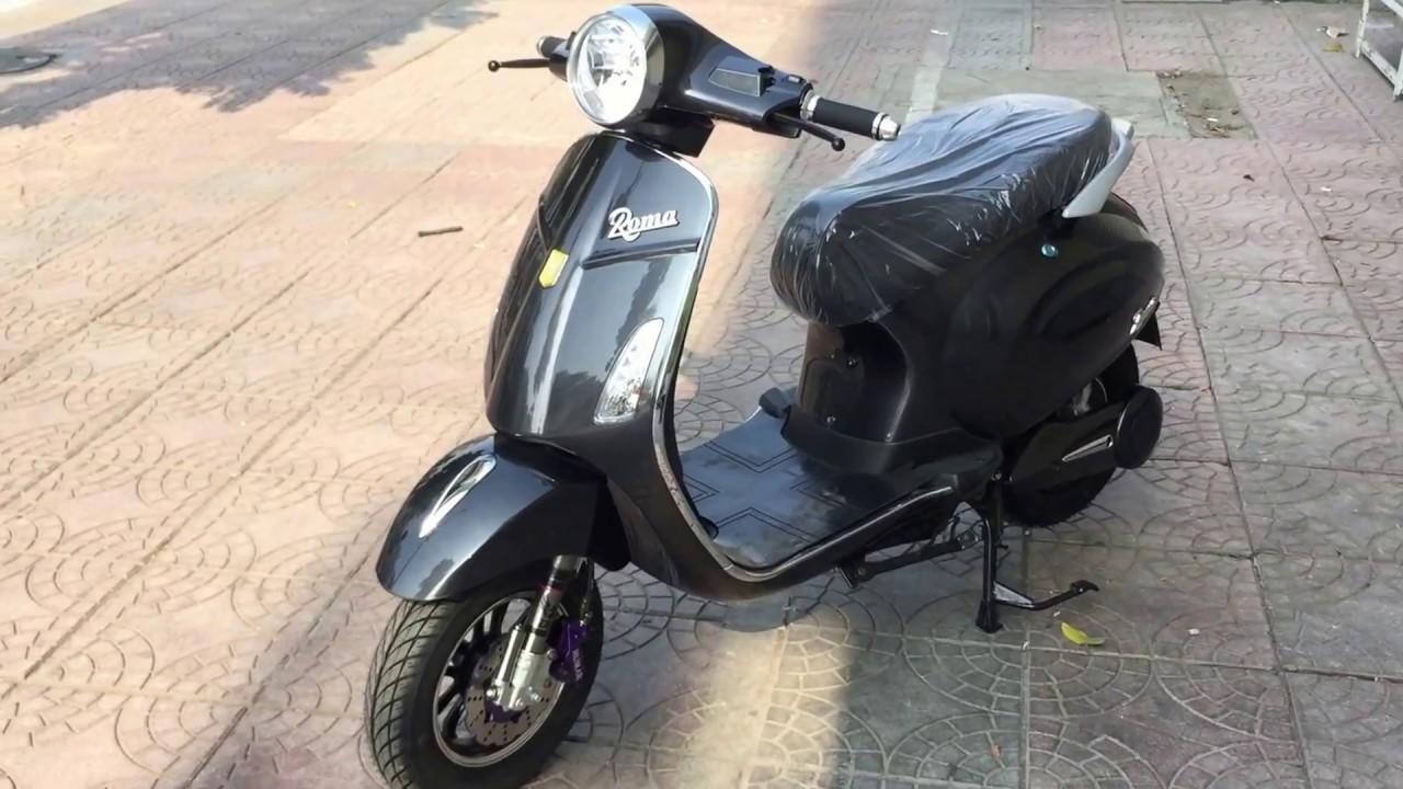 Kết quả hình ảnh cho Xe máy điện Vespa Roma