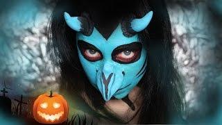 "Halloween Make Up Tutorial I Dämonische Krähe ""Science Fiction"" #magscary"
