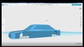 123D Design을 이용한 자동차 차체 모델링