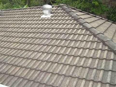 Paint House Roof   Use Gloves When Handeling Cement