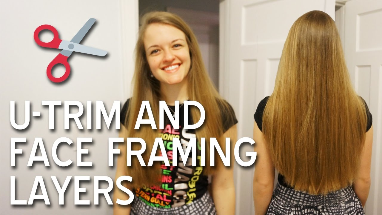 framed face haircuts long hair how i cut my hair u trim and framing layers for 4792 | maxresdefault