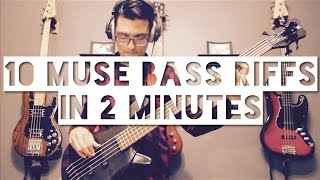 10 MUSE Bass Riffs In 2 Minutes - Part 1 - Adam Aarts