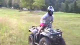Dirtbike burnout and ATV Wheelies